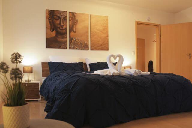 Main Apartment Volkach Schlafzimmer